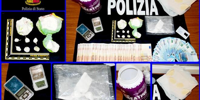Bastia Umbra, arrestato il pony express della droga: nascondeva 2 etti di cocaina pronta per lo spaccio