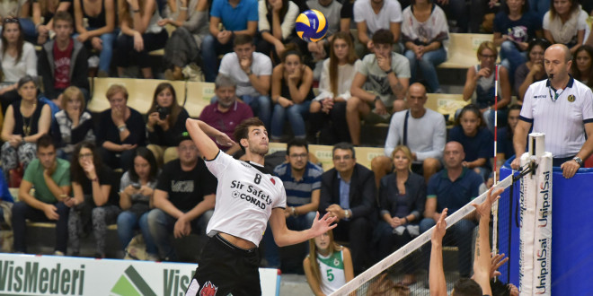 Volley, finisce a Siena il precampionato della Sir Safety Conad Perugia: vittoria al tie break con la Emma Villas