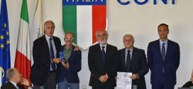 Leonardo Cenci ha ricevuto dal Coni la medaglia d'oro al valore atletico