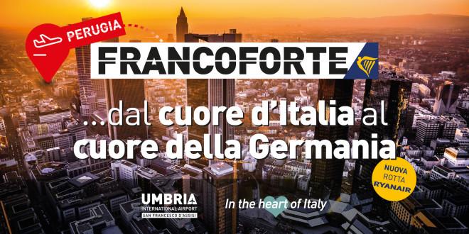 Aeroporto dell'Umbria, dal 27 marzo al via il collegamento con Francoforte: biglietti in vendita a 12,99 euro